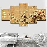 jjshily Fleurs de Cerisier Japonais 5 Pièce HD Fonds d'écran Art Impression sur...
