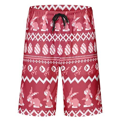 Toomjie Strandshorts Schnelltrocknend Outdoor-Shorts für Männer Premium Strandhose White 5XL