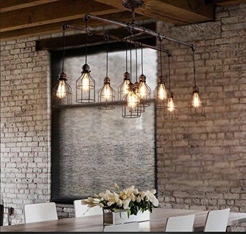 LLT Lámpara Colgante Útil Retro Techo Chandelier Bar Personalidad Industrial Restaurante Creativo Tubo de Agua Techo Arañas Living Room Hierro Colgante Luz