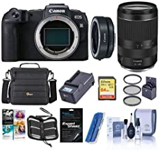 $1519 » Canon EOS RP 26.2MP FF Mirrorless Camera with RF 24-240mm f/4-6.3 is USM Lens - Bundle with Canon Mount Adapter EF-EOS R, 64GB SDXC Card, Camera Case, 72mm Filter Kit, PC Software Package, and More