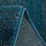 Teppich Kurzflor Wohnzimmer Meliert Mehrfarbig Beige Braun Türkis Grau Blau Türkis Grau Rosa Grün Pflegeleicht Robust Qualität 80x150 cm - 3