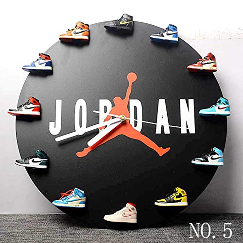 AKIGN 3D-Sneaker-Uhr, Exklusive Uhr Jordan Shoes Dekorative Uhr, handgefertigte Uhr/Retro-Uhr/Creative Cloc/Wanduhr - Do It Yourself
