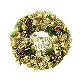 RMBLYfeiye Weihnachtskranz Weihnachtskugeln Weihnachtsgirlande Kränze Haustür Kränze Kreativ Weihnachten Türkranz Weihnachten Dekoration Weihnachtsdekoration für Einkaufszentren Schaufenster