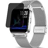 Vaxson Anti Spy Schutzfolie kompatibel mit CanMixs ZX08 smartwatch Smart Watch, Displayschutzfolie Bildschirmschutz Privatsphäre Schützen [nicht Panzerglas]