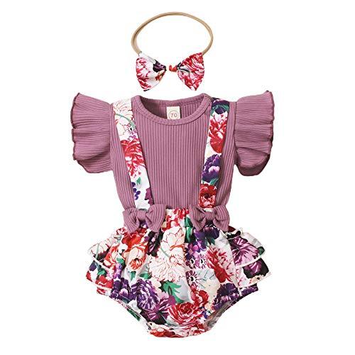 Conjunto de verano para bebé, 0 – 18 meses, 3 piezas, camiseta...