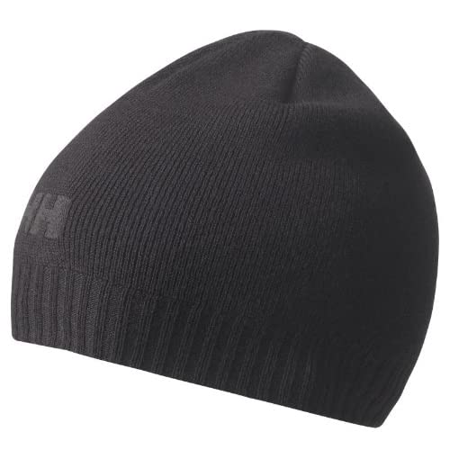 6d68eab1cfb Helly Hansen Brand Beanie Winter Hat In Black - Unisex  Amazon.co.uk   Sports   Outdoors