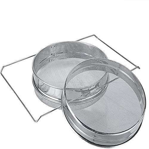 XINXI-YW Conveniente Colador Miel Reutilizable; Herramienta de Miel del Acero Inoxidable de Doble Capa de Filtro de Pantalla retráctil Miel Filtro Apicultura Equipo Decorativo