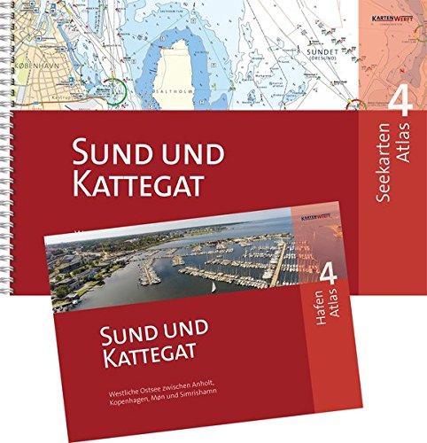SeeKarten Atlas 4 | Sund und Kattegat: Westliche Ostsee zwischen Anholt, København, Møn und Simrishamn