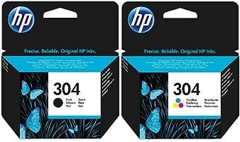 HP 304 Schwarz & Farbe Original Druckerpatrone für HP Deskjet