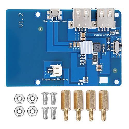 Dual-USB-Ausgang Anti-Interferenz-USV-Batterie-Erweiterungskarte Robuste, stabile Lipo-Batterie-Erweiterungskarte mit kleinem Volumen für Raspberry Pi Motherboard Industrial