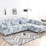 WXQY Fundas Estampadas elásticas Antideslizantes para sofá Funda de sofá para Mascotas Esquina en Forma de L Funda de sofá Antideslizante A5 1 Plaza