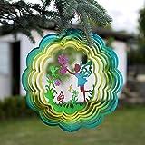 Unbekannt 3D-Windspiel Gartenzauber aus Edelstahl Ø 306 mm mit Glow-in-The-Dark-Effekt