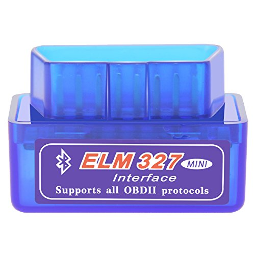 OBD2 Codeleser ELM327 Bluetooth OBD II Diagnose scanner Super Mini ELM 327 Engine Scan Tool V1.5 blau
