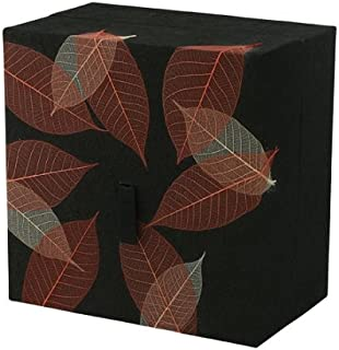 Silverlight Urns Embrace Biodegradable Urn- Autumn Leaves by Passages International, Wood Pulp, Black & Multi Color, Earth Friendly Cremation Urn, Adult Sized