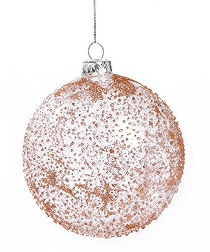 Paben Lot de 6 Boules de Noël en Verre Grenade Rouge, 10 cm