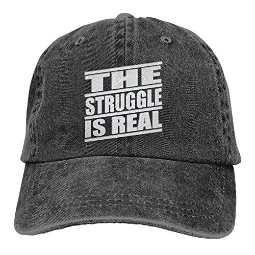 Jopath The Struggle is Real-1 - Gorra de béisbol para hombre y mujer, ajustable, lavable