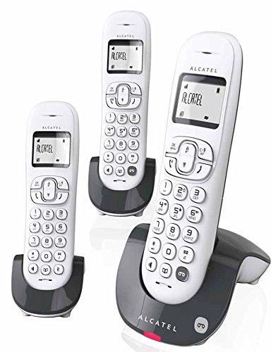 Alcatel C250 - Teléfono (Teléfono DECT, Terminal inalámbrico, Altavoz, 20 entradas, Identificador de Llamadas, Antracita, Blanco): Amazon.es: Electrónica