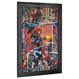 """Officially Licensed Marvel Comics Spider-Man Spider-Verse Comic Book Cover Framed Wall Art (19"""" H x 13"""" L)"""