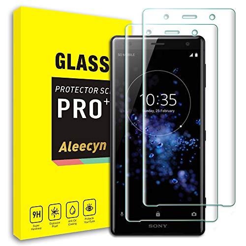 ALEECYN [2 Pack Displayschutzfolien kompatibel mit Sony Xperia XZ2, gehärtetes Glas, 3D Gebogene Schutzfolie für Xperia XZ2
