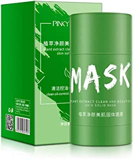 Green Tea Purifying Clay Face Mask Moisturizing Oil Control Shrink Pores Remove Anti-Acne Solid Fine Mask Facial Care