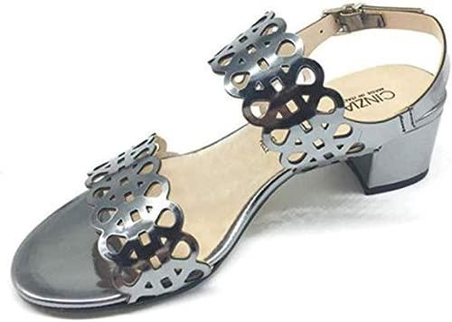 Damen Sandalenschuhe aus grauem Lackleder IL68078-S002