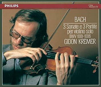 Bach, J.S.: 3 Sonatas & Partitas for Solo Violin