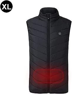 Ciclismo Gilet riscaldato Elettrico Lavabile Carica USB Riscaldamento Giacca Abbigliamento Controllo Intelligente della Temperatura per attivit/à allaperto Escursioni Unisex
