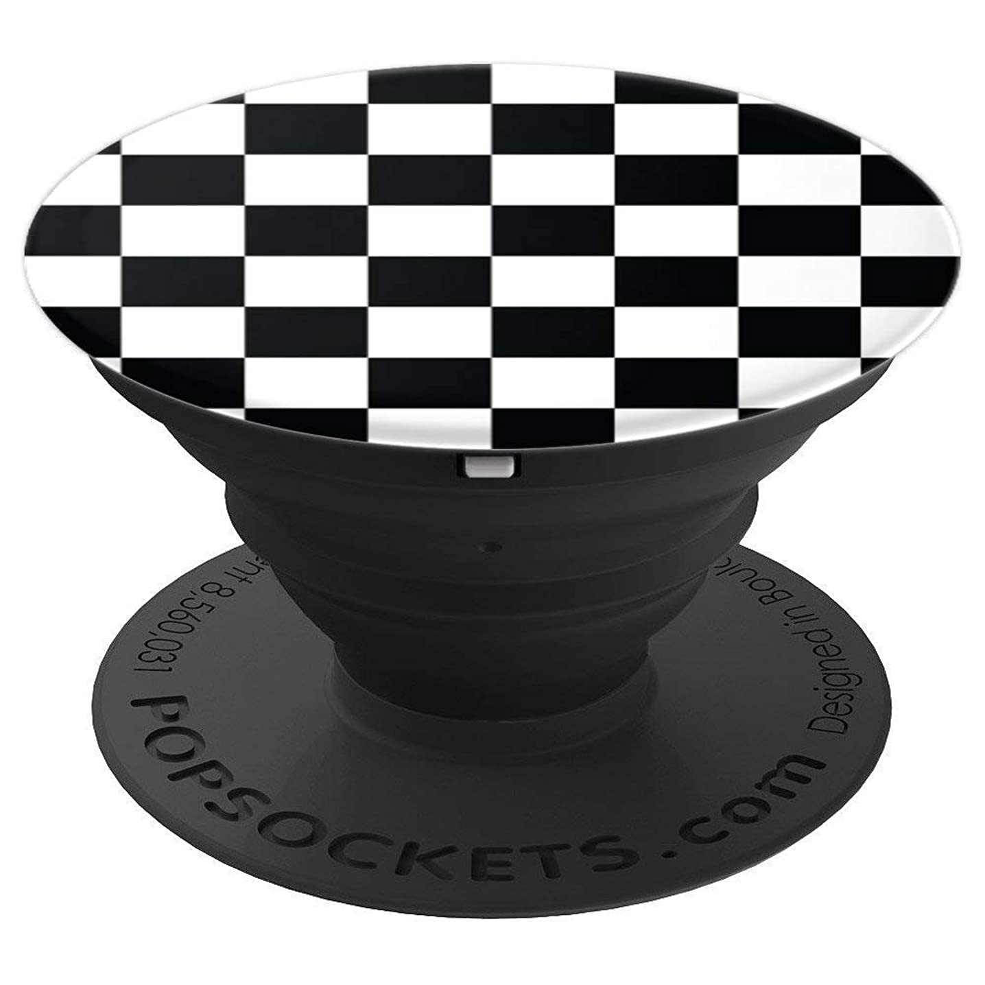 Chess Board Black & White Checkerboard - PopSockets Grip and Stand for Phones and Tablets
