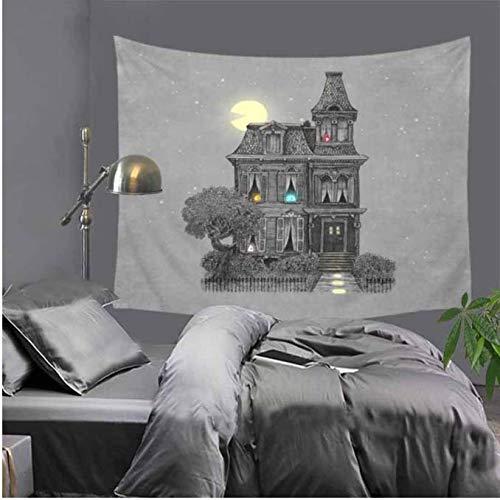 Bedruckter Wandteppich, Leinwand, zum Aufhängen, dekorativ, für Haus, Landschaft, Tapete, Wandkunst, Schalkragen, 150 x 170 cm