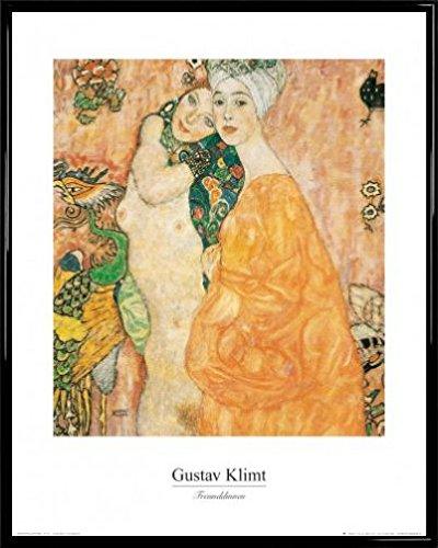 Gustav Klimt Poster Kunstdruck und Kunststoff-Rahmen - Zwei Freundinnen, 1916-1917 (50 x 40cm)