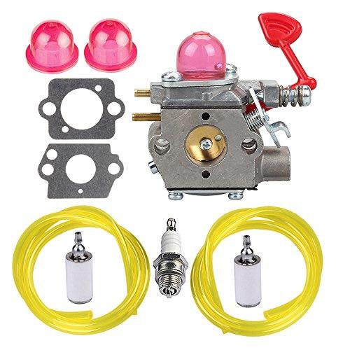 Hipa WT-875 Carburetor with Fuel Line Filter Spark Plug for Craftsman Poulan Pro Blower BVM200C BVM200VS P200C GBV325 P325 200mph