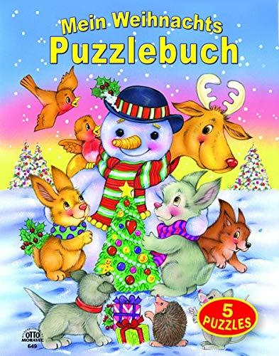 Mein Weihnachts-Puzzlebuch 5 Puzzles (12 teilig) mit gereimten Texten Blattstärke 3mm