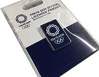 東京 2020 オリンピック 組市松紋 エンブレム ピンバッジ シルバー ネイビー