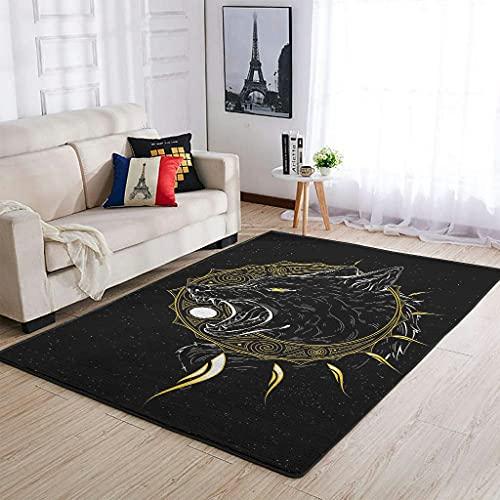 Huffle-Pickffle Alfombra antideslizante – Acabado fino alfombra de suelo para dormitorio blanco 91 x 152 cm