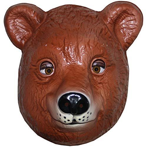 Spassprofi Tiermaske Bär zum Aufsetzen Plastik Maske Tier Bärenmaske Mask