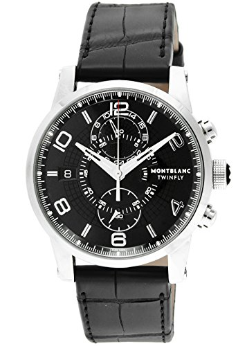[モンブラン] 腕時計 TIME WALKER ブラック文字盤 自動巻き 105077 メンズ 並行輸入品 ブラック