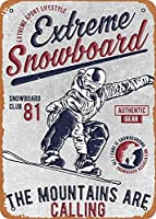 """RCY-T Sport Snowboarding Wall Art 12""""x 8"""" 金属スズレトロヴィンテージサイン"""