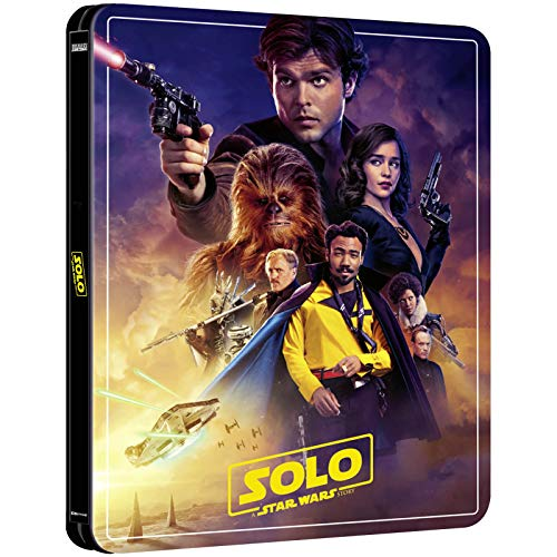 SOLO: A STAR WARS STORY 4K ULTRA HD COLLECTOR`S EDITION STEELBOOK / INCLUDES BLU RAY / 3-DISC SET / IMPORT / REGION FREE