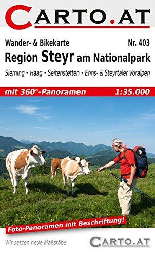 Wander- & Bikekarte 403 Region Steyr am Nationalpark: Sierning – Haag – Seitenstetten – Enns- & Steyrtaler Voralpen