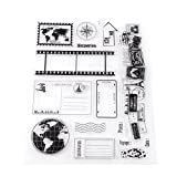 Sellos de silicona transparentes scrapbook tarjetas de fotos postales 14x18 cm sello de goma sellos de silicona
