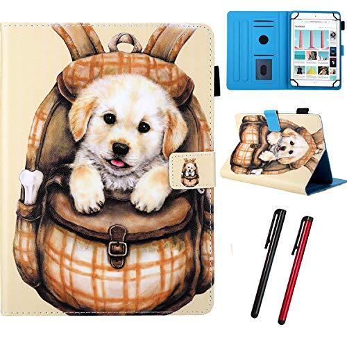 Hious Universal Hülle für 7 Zoll Tablet mit Kartenfächer und Stift für Samsung Galaxy Tab E Lite 7,0/Tab A A6 7,0 T280/Mediapad T2 7.0/Google Nexus 7/Lenovo Tab7/Fire HD 7 und Mehr 7'' Tablet