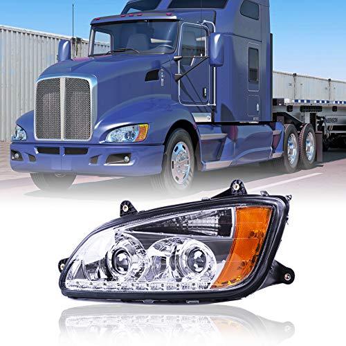 Kenworth T660 LED Headlights Headlamps Projector Left side for 2008-2016