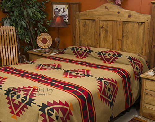 Fantastic Deal! Mission Del Rey Southwest Bedding Yavapai Collection - Reversible Bedspread - King S...