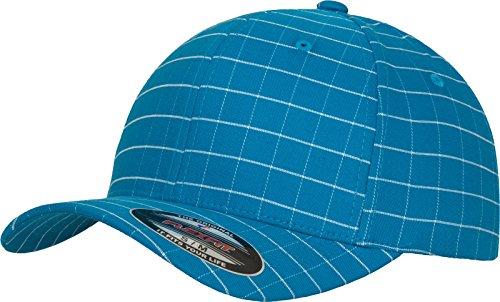 Flexfit Erwachsene Mütze Square Check Cap, Tur/Wht, L/XL