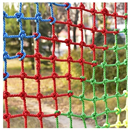 Balcony anti-fall net Child Safety Net, Anti-fall Net Fence Decoration Net Cargo Net Cat Net, Balcony Loft Railing Stairs Climbing Trampoline Playground Garden Ceiling Wall (Size : 2 * 2M(7 * 7ft))