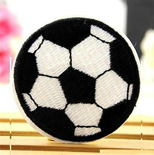 Monbedos - Parche bordado con diseño de fútbol de fantasía para coser o planchar