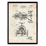 Nacnic Poster con Patente de Triciclo. Lámina con diseño de Patente Antigua en tamaño A3 y con Fondo Vintage