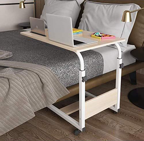 HYZXK Medizinischer Überbetttisch, Nachttisch Esstisch höhenverstellbar, beweglicher rollender medizinischer Tisch, Lesen, bettlägerig, älter (Größe: B (80X50 cm))