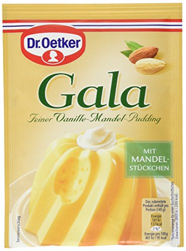 Dr. Oetker Gala Feiner Vanille-Mandel-Pudding, 8er Pack (8 x 81 g)