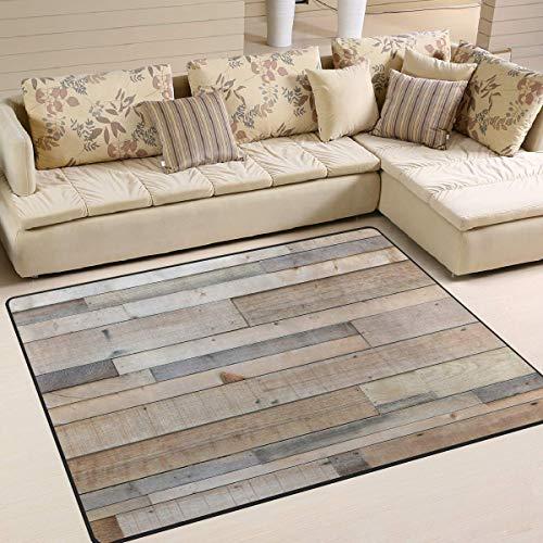 Area Rug Vintage Wood Plank Wandplank, 63 x 48 inch, voor woonkamer en slaapkamer 80x58 inch Image 1185